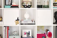 ikea expedit  desk unit in white decorated by ...love Maegan, via Flickr
