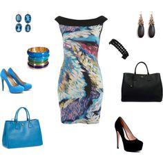 Black n Blue, created by doorite on Polyvore