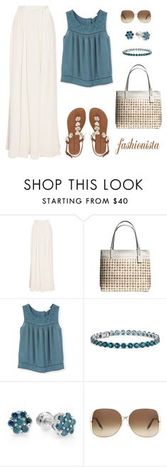 """""""Untitled #917"""" by gallant81 ❤ liked on Polyvore featuring Jenny Packham, Coach, MANGO, Blue Nile and Victoria Beckham"""