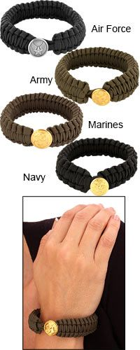 Peace Cord™ Military Bracelet at The Veterans Site.  Cool braclet for a good cause!