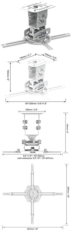 Projector Mounts and Stands: Qualgear Prb-717-Wht Universal Ceiling Mount Projector Accessory -> BUY IT NOW ONLY: $32.09 on eBay!