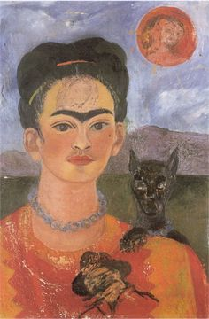 Frida Kahlo Self Portrait - With Image of Diego on my Breast and Maria on my…