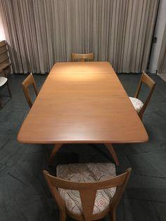 Heywood Wakefield Drop Leaf Dining Table Vintage Excel T