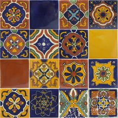 Talavera Mexican Ceramic Tile by Mixed Sets