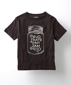 Look at this #zulilyfind! Black 'That's My Jam' Tee - Toddler & Kids #zulilyfinds