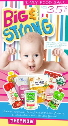 Essential #Nutrition For Your #Baby's Growth & Development, Now Up To 35% Off! Save On Formulas, Fruit & Veggie Purees, Snacks, Meals & More.