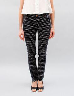 Patrik Ervell Women's Jeans- Indigo Dots