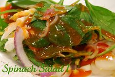 See Jane in the kitchen: Spinach Salad I