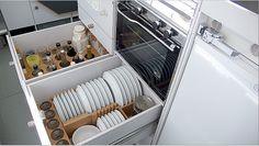 dish storage in airstream?