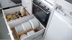 dish storage in airstream?