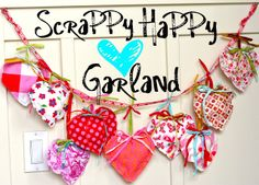 Blooming on Bainbridge: ScraPPy HEART Garland {DIY}