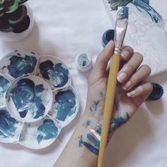 Aries sun, Aquarius moon, Scorpio rising aesthetic requested by anon Art Hoe Aesthetic, Blue Aesthetic, Ravenclaw, Geek House, Daughter Of Smoke And Bone, Everything Is Blue, The Dark Artifices, Art Drawings, Artsy