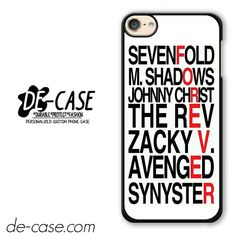 Avenged Sevenfold Quotes Forever DEAL-1191 Apple Phonecase Cover For Ipod Touch 6