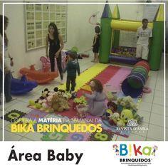 Na Bika Brinquedos você encontra também a Área Baby Ideal para festas de 1 ano. Onde na maioria das vezes existem convidados de todas as idades. Acompanhe na Revista DÁvila as matérias semanais da Bika Brinquedos e também de todos os outros parceiros. http://ift.tt/1UOAUiP (link na bio).