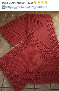 23 ideas for crochet afghan patterns free tunisian Crochet Placemats, Crochet Doilies, Hand Crochet, Free Crochet, Tunisian Crochet, Crochet Rugs, Single Crochet, Afghan Crochet Patterns, Stitch Patterns
