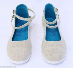 Blowfish-Gadzook-Ankle-Strap-Flats-Textile-Sneakers-Tan-Shoes-Size-8-5-W355
