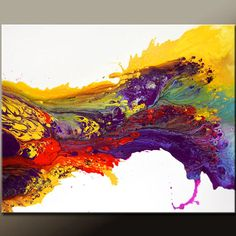 Abstract Canvas Art Painting Huge 30x40 Contemporary Original Wall Art Paintings by Destiny Womack - dWo - Chasing the Sun
