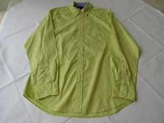 Tommy Hilfiger dress shirt long sleeve 7847814 Lime Sherbert 782 solid M Mens #TommyHilfiger #ButtonFront