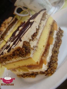Polish Desserts, No Bake Desserts, Delicious Desserts, Cooking Recipes, Healthy Recipes, Cakes And More, Tasty, Baking, Breakfast