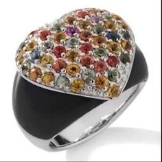 Sima K Colors Of Sapphire Heart Ring