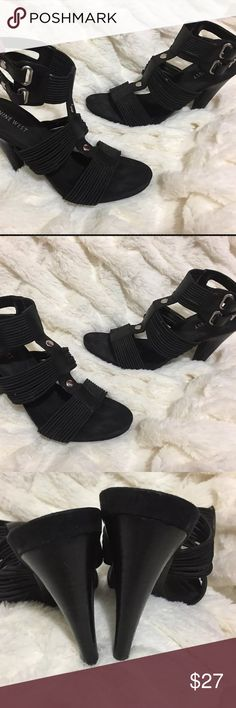 NINE WEST Shoes 7 Strappy Sandals High Heels Black NINE WEST Shoes 7 Strappy Sandals High Heels Black Womens. Ankle Nine West Shoes Heels