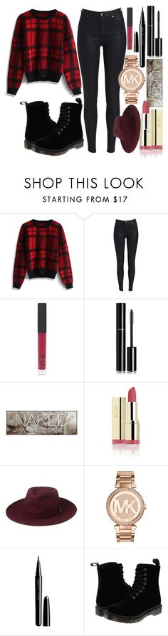 """""""Girls night out...!!"""" by anisaah ❤ liked on Polyvore featuring Chicwish, NARS Cosmetics, Chanel, Urban Decay, Whistles, Michael Kors, Marc Jacobs and Dr. Martens"""