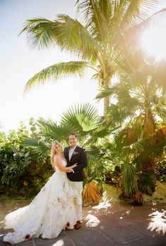 Colette & John's Disney Cruise Wedding at Castaway Cay (Check out that custom Hayley Paige gown!)