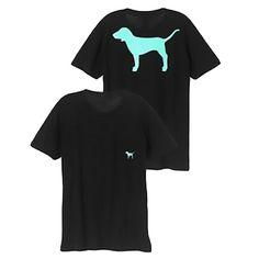 Summer Victorias' Pink Aqua Dog Graphic Short Sleeve Campus Tee Shirt Tops Vnc
