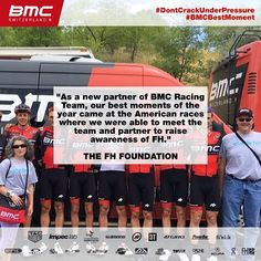 source instagram bmcproteam  In 2017, we partnered with @fhfoundation to raise awareness of Familial Hypercholesterolemia. They were able to hang out with the team when we raced in 🇺🇸 on home soil and get to know all things cycling! #BMCBestMoment #KnowFH  bmcproteam  2017/11/27 00:06:29