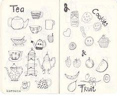 In my moleskine sketchbook || drawing and doodling
