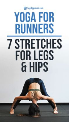 Like mac and cheese, yoga for runners is a match made in heaven. Try these 7 yoga poses for runners to specifically stretch running-induced muscle soreness. Stretches For Legs, Sore Legs, Yoga For Runners, Tight Hamstrings, Yoga Photos, Aerobics Workout, Cool Yoga Poses, Yoga At Home, Yoga Fitness