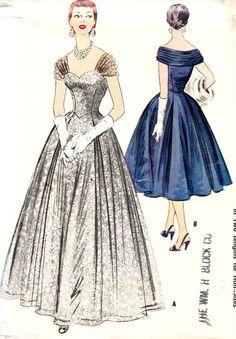 1950s Evening Dress Evening Gown Prom Dress