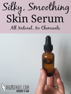 Silky Smoothing Skin Serum with a surprising oil!
