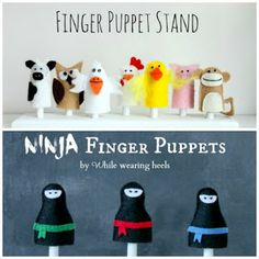While Wearing Heels: Felt Gnome Finger Puppets Tutorial