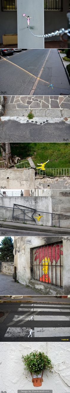 Humorous Urban Interventions on the Streets of France by OakOak - created via http://pinthemall.net