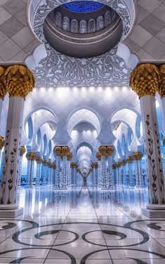 The Mosque - Sheikh Zayed, Abu Dhabi, Dubai ~ by Julian John Abu Dhabi, Mosque Architecture, Art And Architecture, Ancient Architecture, Beautiful Architecture, Beautiful Buildings, Beautiful Mosques, Beautiful Places, Islamic Wallpaper
