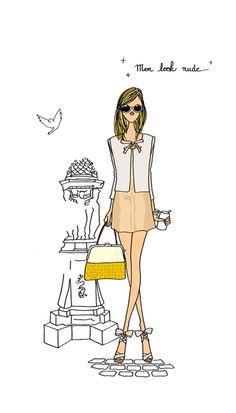 1000 images about paris fashion on pinterest - Dessin parisienne ...
