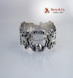 Art Nouveau Napkin Ring Sterling Silver Blackinton 1907