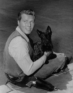 John & a terrier! John Smith Actor, Actor John, Laramie Tv Series, Robert Fuller Actor, Out Of My League, Best Hero, The Virginian, Tv Westerns, Old Tv Shows
