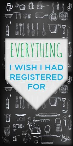 Everything I Wish I Had Registered For... Also mentions stuff you don't really need on the registry