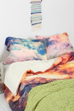 Shannon Clark For DENY Cosmic Pillowcase Set- Multi One from Urban Outfitters. Saved to Objectives. Dream Bedroom, Home Bedroom, Bedroom Decor, Bedrooms, Bedroom Ideas, Bedroom Furniture, Master Bedroom, Interior And Exterior, Interior Design