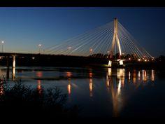 Most Świętokrzyski - Świętokrzyski Bridge #Warsaw #Poland #Vistula #Most_Swietokrzyski #the_most_beautiful_city_in_the_world