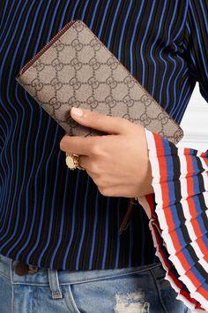 GUCCI elegant Coated-canvas women s continental wallet - Humble   Rich  Boutique 9bb561ec0e1