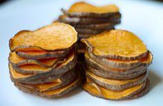 Baked Coconut Oil Glazed Sweet Potato Rounds