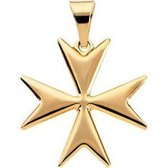 14kt Yellow Gold Maltese Cross Pendant with Packaging | 1.99 Grams | Jewelry Series: R16014