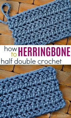The Herringbone Half Double Crochet is quick and super easy with this video tutorial! # half double crochet beanie How to Herringbone Half Double Crochet Crochet Afghans, Tunisian Crochet, Crochet Yarn, Crochet Birds, Crochet Food, Crochet Beanie, Crochet Animals, Crotchet, Crochet Stitches For Beginners