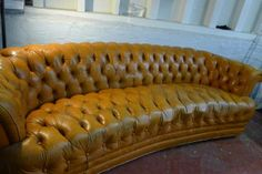 SOLD - Loft-style leather chesterfield tuft couch / sofa - $250 (potrero hill)