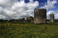 Although the town of Ballybeg is fictional, there is an actual Balleybeg in Ireland. I thought this picture of the Balleybeg Priory (built 1229) has gorgeous vibrant colors in the fields and sky that contrast really well with the muted stone colors.