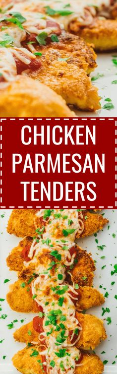 These healthy chicken parmesan tenders are easy to make using low carb ingredients. baked / recipe / easy / healthy / best / skinny / oven / sides / sauce / quick / classic / homemade / simple / meal / italian / how to make / skillet / fried / crispy / for two / without breadcrumbs / stove top / crusted / one pan / breaded / unbreaded / food network / for a crowd / keto / diet / atkins / meals / recipes / easy / dinner / lunch / foods / healthy / gluten free #chicken #Lowcarb