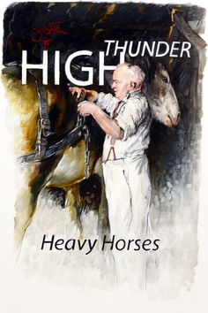 Heavy Horse Stable - High Thunder (2010). Concept design for a magazine section about heavy horses. Drawn with charcoal on Yupo FGS 200 gsm 1/2 sheet and then painted with transparent Alkyd oils blending and cross-hatching opague oils to suit. Flippant and deft is the idea…